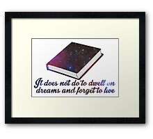 Rowling-Inspired Quote Framed Print