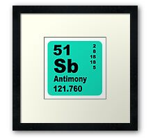 Antimony Periodic Table of Elements Framed Print