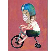 conejo en bicicleta 2006 Photographic Print