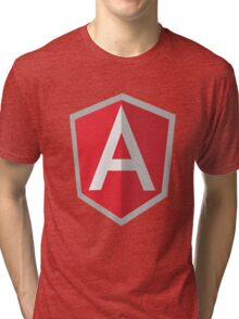 Angularjs geek funny nerd Tri-blend T-Shirt