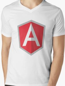 Angularjs geek funny nerd Mens V-Neck T-Shirt