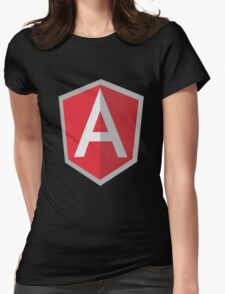 Angularjs geek funny nerd Womens Fitted T-Shirt