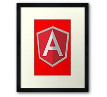 Angularjs geek funny nerd Framed Print