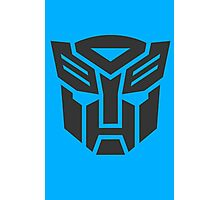 Autobot shield solid geek funny nerd Photographic Print