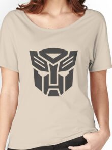 Autobot shield solid geek funny nerd Women's Relaxed Fit T-Shirt