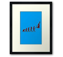 Basketball evolution geek funny nerd Framed Print
