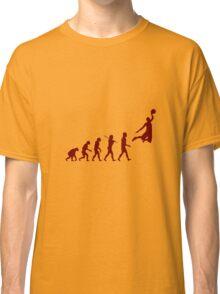 Basketball evolution geek funny nerd Classic T-Shirt