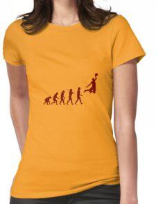 Basketball evolution geek funny nerd Womens Fitted T-Shirt
