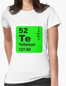 Tellurium Periodic Table of Elements Womens Fitted T-Shirt