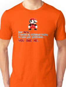 Dear Mario Funny Humor Hoodie / T-Shirt Unisex T-Shirt