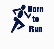 Born to run running boys bike race blue geek funny nerd Unisex T-Shirt