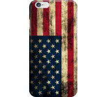 Rustic Patriotic American Flag iPhone Case/Skin