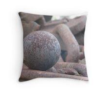 Rusty Ball Throw Pillow