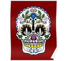 Mexican Coffee Skull Poster