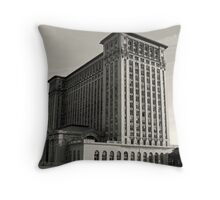 The Detroit Train Station Throw Pillow