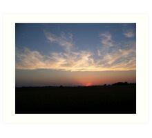 Country Sunset Art Print