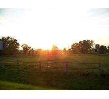 Sunset Farm Photographic Print