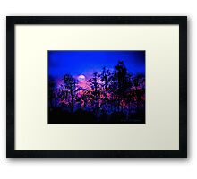 Another Blue Night Framed Print