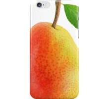 Red and yellow pear iPhone Case/Skin