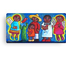MEXICAN ANGELS AND LOVEBIRDS  Canvas Print