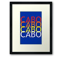 Cabo geek funny nerd Framed Print