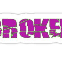 Barbed Wire LA Lakers Neon Sticker