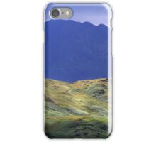 Illuminated Hikers on Silver Howe Dwarfed By Crinkle Crags. iPhone Case/Skin