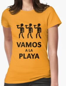 Vamos A La Playa (Beachparty / Black) Womens Fitted T-Shirt