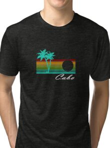 Cabo san lucas distressed geek funny nerd Tri-blend T-Shirt