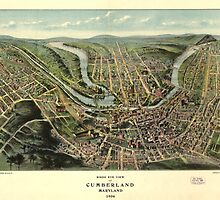 Bird's eye view of Cumberland Maryland (1906) by allhistory