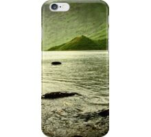 Contrast In Heavy Rain - Easdale Tarn, Lake District iPhone Case/Skin