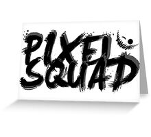 Pixel Squad Title BLACK Greeting Card