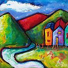SLOW ROAD TO RED HILL  by ART PRINTS ONLINE         by artist SARA  CATENA