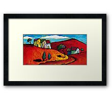 SUN ON A RED LANDSCAPE  Framed Print