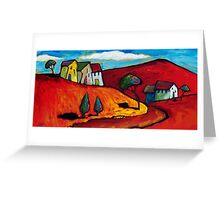 SUN ON A RED LANDSCAPE  Greeting Card