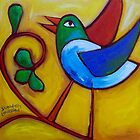 SUNDAYS  LOVEBIRD  by ART PRINTS ONLINE         by artist SARA  CATENA