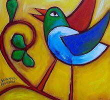 SUNDAYS  LOVEBIRD  by ART PRINTS ONLINE         by artist SARA  CATENA
