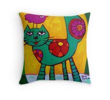 THE  LOVE  CAT  Throw Pillow