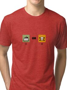 Cake or death funny nerd Tri-blend T-Shirt