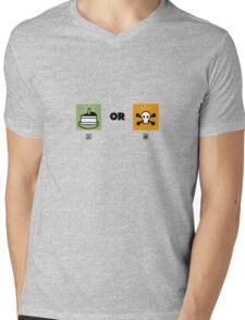 Cake or death funny nerd Mens V-Neck T-Shirt