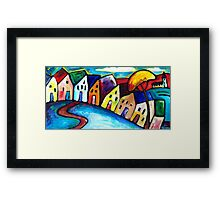 VILLAGE IN TUSCANY - ITALY  Framed Print