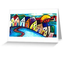 VILLAGE IN TUSCANY - ITALY  Greeting Card