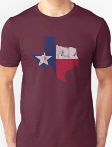 Vintage Texas Flag State Outline T-Shirt