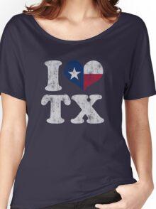 I Heart Texas Flag TX Women's Relaxed Fit T-Shirt