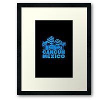 Cancun mexico geek nerd Framed Print