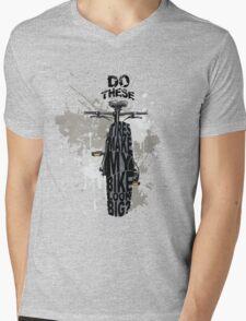 Fat bikers unite! Mens V-Neck T-Shirt