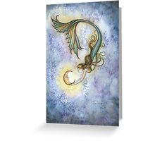 Deep Sea Moon Mermaid Fantasy Art Illustration Greeting Card