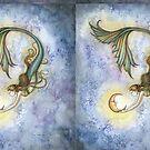 Deep Sea Moon Mermaid Fantasy Art Illustration by Molly  Harrison