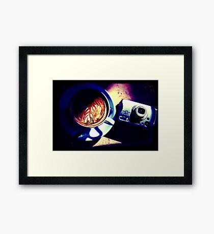 Coffee. Lomography Framed Print