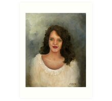 THE GIRL WITH THE OLIVE GREEN EYES Art Print